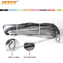 6mm 12m 1/4''x40' ATV & UTV Synthetic fiber Winch Rope 12-Strand Braid UHMWPE Winch Towing Rope UHMWPE Spectra