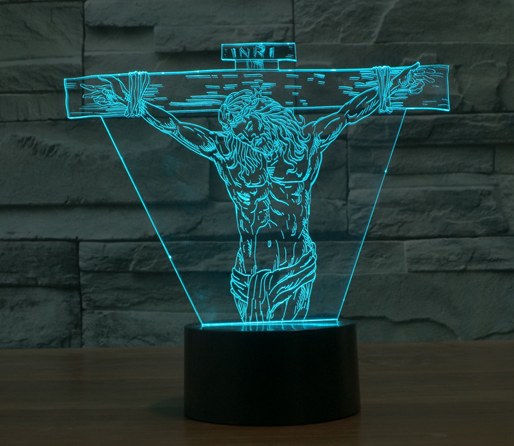 7 Colors Jesus Chris Bible Christianity Funny Toys Model  Action Figures Product 3D Table Lamp Led Toys Funny Gift<br><br>Aliexpress