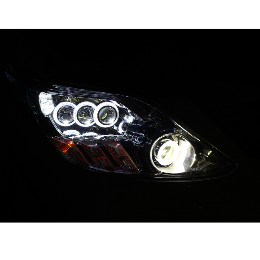 LED Angel Eyes COB 2PCS Auto Halo Ring 60MM 70MM 80MM 90MM 100MM 110MM 1MM Car Motorcycle With Lampshades 12V For BMW E60 E39 25