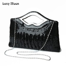 Free Shipping 2017 New Luxury Paillette EveningBags High Quality Handmade Evening Cluth Bags in Sequin Beading Quilt Designer(China)