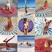 Indian Style Cotton Geometric Bohemia Round Chic Tapestry Hanging Boho Yoga Art Throw Beach Towel Wall Mat Leisure