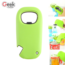 2017 new fashion Multifunctional bottle opener Blue and green Two styles Handy Easy Operated Bar Drink Gadget Tin beer Opener(China)