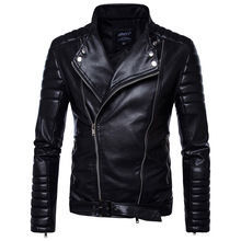 2017 mens faux fur coats clothes fashion pilot motorcycle imported pp skull leather jacket men slim fit B012(China)