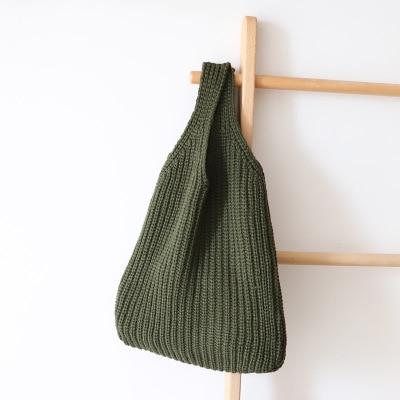 Knitting Design Women Handbag Super Chic Lady Messenger Bags Winter Stylish Shoulder Bags Small Tote Shopping