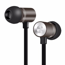 Metal Earphone PTM W1 Headphone Universal Earbuds Super Bass auriculares Stereo Headset for Mobile phone MP3 PC(China)