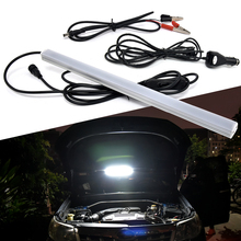 LED Strip 2835 Magnet Base Outdoor Camping Portable Auto LED Bar Night Light Car Repair Lamp + 5m Car Charger +Car Battery Cable