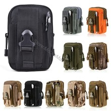 Universal Outdoor Tactical Holster Military Molle Hip Waist Belt Bag Wallet Pouch Purse Zipper Phone Case For Iphone X 8 Plus 7(China)