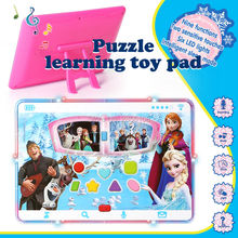 3D English language CartoonToy pad Machine Puzzle Learning Kid Laptop Toy Computer with LED Light  Educational Toys for Children