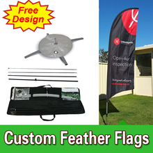 Single sided Feather Flags Banners with Cross Base Custom Printing Cheap Flags FREE Shipping FREE Design outdoor feather banners(China)