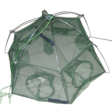 Good deal  Fishing net cage spare plaice fish lobster shrimp basket 6 holes   Mesh size: 3 mm
