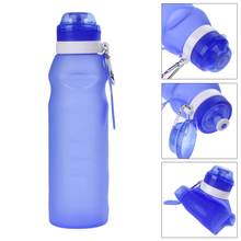 600ML Running Water Bottle Portable Silicone Sport Drink Bottle Training Camping Workout Foldable Water Bottle