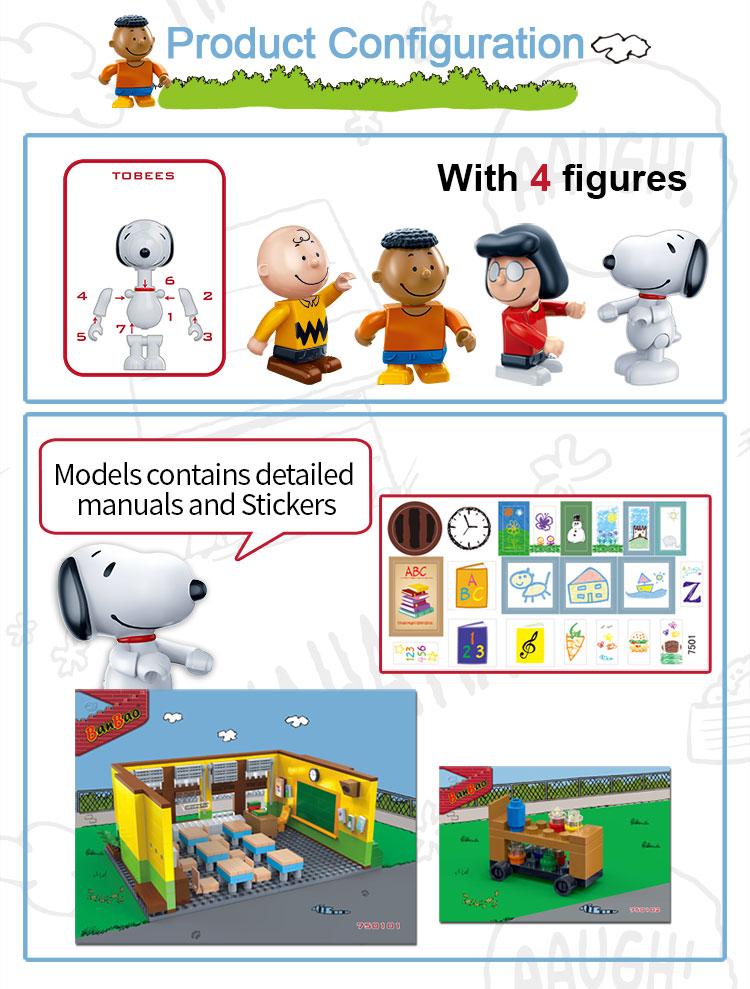 BanBao 7501 Snoopy Classroom Plastic Building Block 31