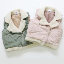 Special 2017 Autumn And Winter Girl Vest Cardigan Zipper Korean Sweater Children's Fur Vests Garment