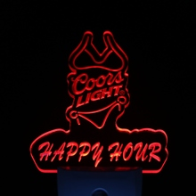 ws0204 Coors Lite Bikini Happy Hour Day/ Night Sensor Led Night Light Sign(China)
