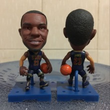 Soccerwe Basketball Super Star Doll 2017 Movable Series 6.5 cm Height Square Base Resin CAV 23 Lebron Figure Blue(China)
