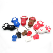 Free shipping real capacity usb flash drive memory stick mini pen drive cartoon 8GB 16GB paw usb flash drive U disk