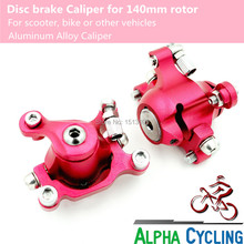 Alpha Cycling's Disc Brake, 140mm Size, Brake Caliper, Front and Rear. Fit Scooter, Bike and other Vehicles(China)