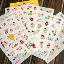 6 Pcs/lot Cute Cartoon Girls Print Memo Pad Sticker Notebook Album Calendar Memo Sticker Diary Notes Scrapbook Paper Sticker(China)