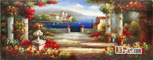 Canvas Prints the Mediterranean Sea Giclee impressionistic art canvas prints for living hall 13-Gfj- (18) 120x50cm