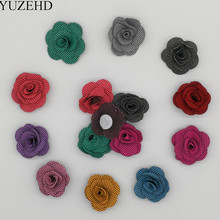 Try Order 20Pcs/lot 3.5CM Inch Mini Felt Fabric Flower Handmade DIY RoseFlower For Hair Accessories Headbands 10 Colors U Pick(China)