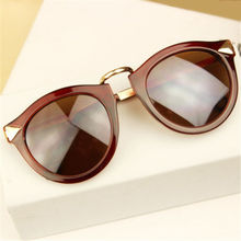 Retro Round Flower Male Female Sunglasses Men Women Brand Designer Rivet Points Feminine Sun Glasses