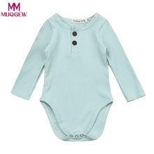 New Baby Clothes Spring Cotton Baby Girl Stripe Knit Jumpsuit Romper Baby Long Sleeve Outfit Newborn Baby Girl One-piece Romper(China)
