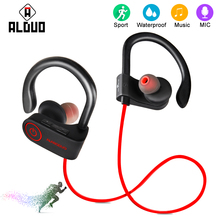 ALANGDUO Wireless Bluetooth earphones for xiaomi Sports Running Earphone Super Bass Earhook with Mic Headset earpiece Headphones(China)