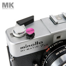 Selens Colorful Digital Camera Soft Shutter Button with screw Pink Concave For Leica Rolleiflex Fuji Nikon Canon Hasselblad(China)