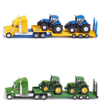 FreeShipping 1:87 Siku Truck With New Holland Tractors Model Toy 1805 LKW mit New Holland Traktoren Kids Toys High Quality