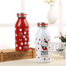 Life83 Hello Kitty Stainless steel vacuum flask Cup cute cartoon straight mug creative gift thermos Cup insulated mug