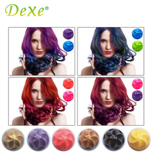 1PC Dexe Rainbow 6 Color Temporary Hair Color Chalk Dye Powder Disposable DIY Hair Styling Kit Halloween Party Colorant Makeup