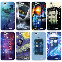 H445 Doctor Who Tardis Series Transparent Hard Thin Skin Case Cover For Huawei P 6 7 8 9 10 Lite Plus Honor 6 7 8 4C 4X G7(China)