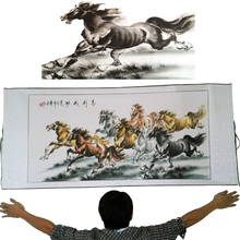 "Free Shipping!High Quality Wall Art Home Decoration Framed Traditional ""Horse Running"" Chinese Impressionists Painting Big Size"