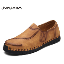 Buy JUNJARM 2017 Brand Handmade Men Flat Shoes Breathable Microfiber Men Flats Loafers High Slip-on Retro Men Leisure Shoes for $27.98 in AliExpress store
