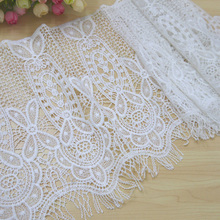 Cotton Lace Trim Chemical Lace Vintage White Lace Trim DIY Bags Tags Altered Couture  3yards/lot