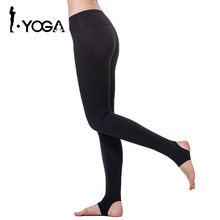 Fitness Women Yoga Pants Mallas Running Mujer Gym Running Tights Fitness Foot Pants Women Sports Leggings Activewear 15011(China)