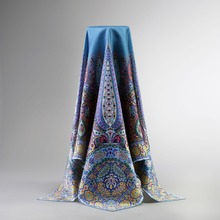 Temperament Paisley Print 100% Silk Twill Scarf Wraps Women's Quality Square Silk Scarves Shawl 90x90cm Clothing Accessory