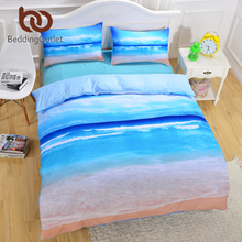 BeddingOutlet Brand New Beach And Ocean Bedding Hot 3D Print Duvet Cover Cheap Vivid Bedclothes Twin Queen King Wholesale 3 Pcs