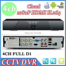 New Mini 4CH Full D1 DVR Real time Recording 4 Channel Standalone CCTV DVR HDMI Output P2P  3G WIFI Cloud Mobile Phone Viewing