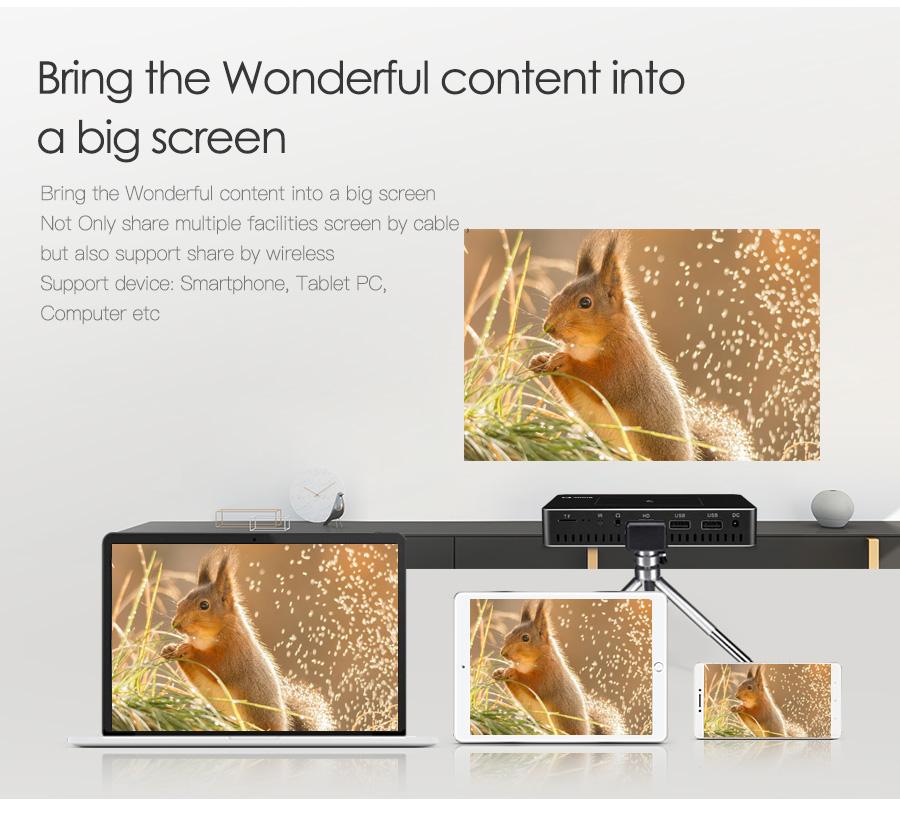 AODIN M9 mini Projector Smart Multi-touch screen1G+32G LED Portable Projectors DLP 300 lumen 5000mAh Battery HD Pocket Projector-11