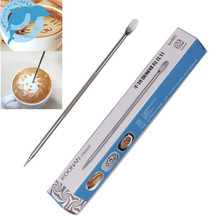 LINSBAYWU 1Pc Useful Stainless Steel Barista Cappuccino Latte Espresso Coffee Decorating Pen Art Household Kitchen Cafe Tool(China)