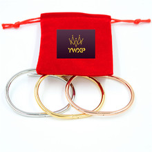 Free Shipping Top Quality Brand Nail Bracelet&Bangles With Stone Cuff Bracelets Stainless Steel Bangles Jewelry XP019