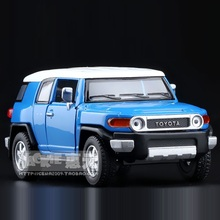 High Simulation Exquisite Diecasts&Toy Vehicles: KiNSMART Car Styling TOYOTA FJ Cruiser 1:36 Alloy Diecast SUV Model Toy Car(China)