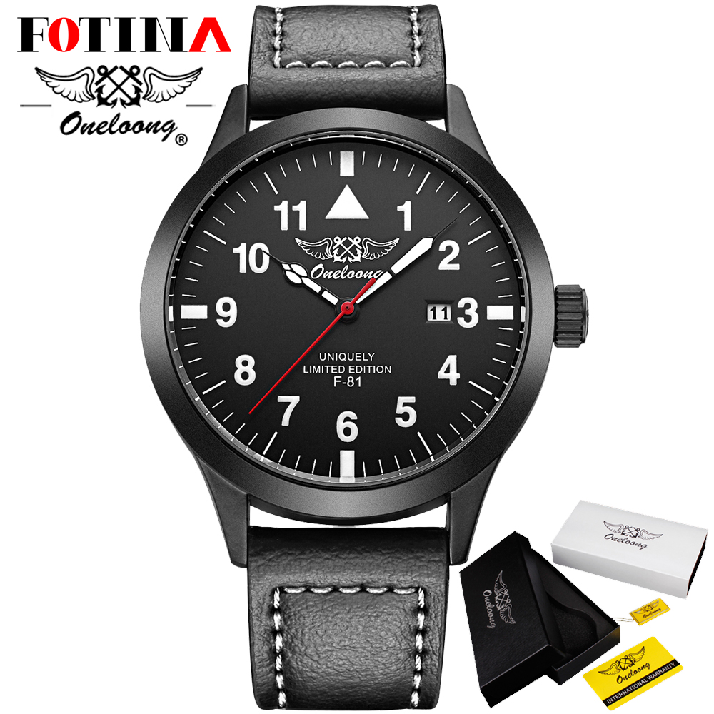 Fotina HK Brand ONELOONG Sports Quartz Watches Mens Watches Genuine Leather Waterproof Business Wristwatches Relogio Masculino<br><br>Aliexpress
