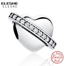 Buy ELESHE Fit Original Pandora Charms Bracelet 925 Sterling Silver Charms New Berloque Pave Crystal Heart Bead Jewelry Making for $7.88 in AliExpress store