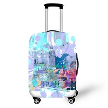 ONE2 London style luggages cover elastic custom polyester spandex blue hot sell luggage wheel cover for boys girls student