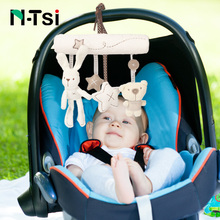 N-Tsi Super Soft Bunny Bear Hanging Bell Car Seat Accessory Plush Stuffed Activity Crib Stroller Toys for Children Gift