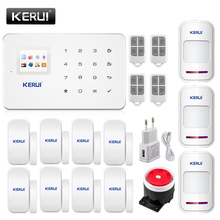 High Quality KERUI G18 GSM House Home Security Alarm System with Door Sensor PIR Infrared Detector IOS Android APP Control
