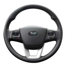 Buy Steering wheel cover Hyundai ix25 2014 2015 2016 Creta 2016 2017 year Microfiber leather Braid steering wheel for $23.99 in AliExpress store
