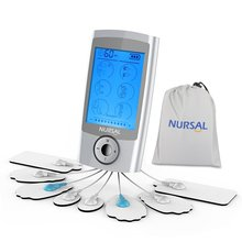 NURSAL Rechargeable Pain Relief Impulse Mini Massager with 16 Modes and 8 Pads Pulse Impulse Pain Relief Massager